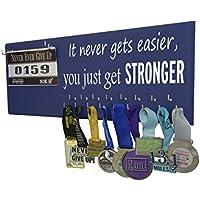 runningonthewall – Runningランナーギア、女の子、メダルへ表示ラック、Medal実行とよだれかけホルダー、マラソンメダルハンガー、5 K 10 K Race