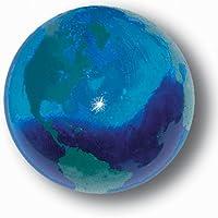 Blue Earth大理石とグリーン大陸、リサイクルガラス、1.4インチ直径