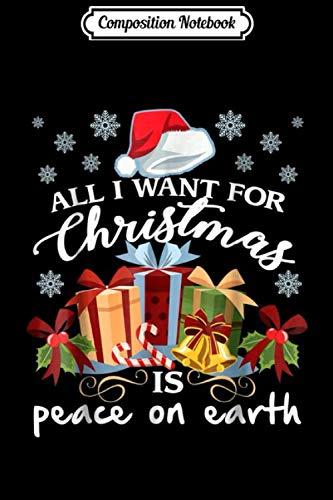 [画像:Composition Notebook: All I Want For Christmas Is Peace On Earth  Journal/Notebook Blank Lined Ruled 6x9 100 Pages]