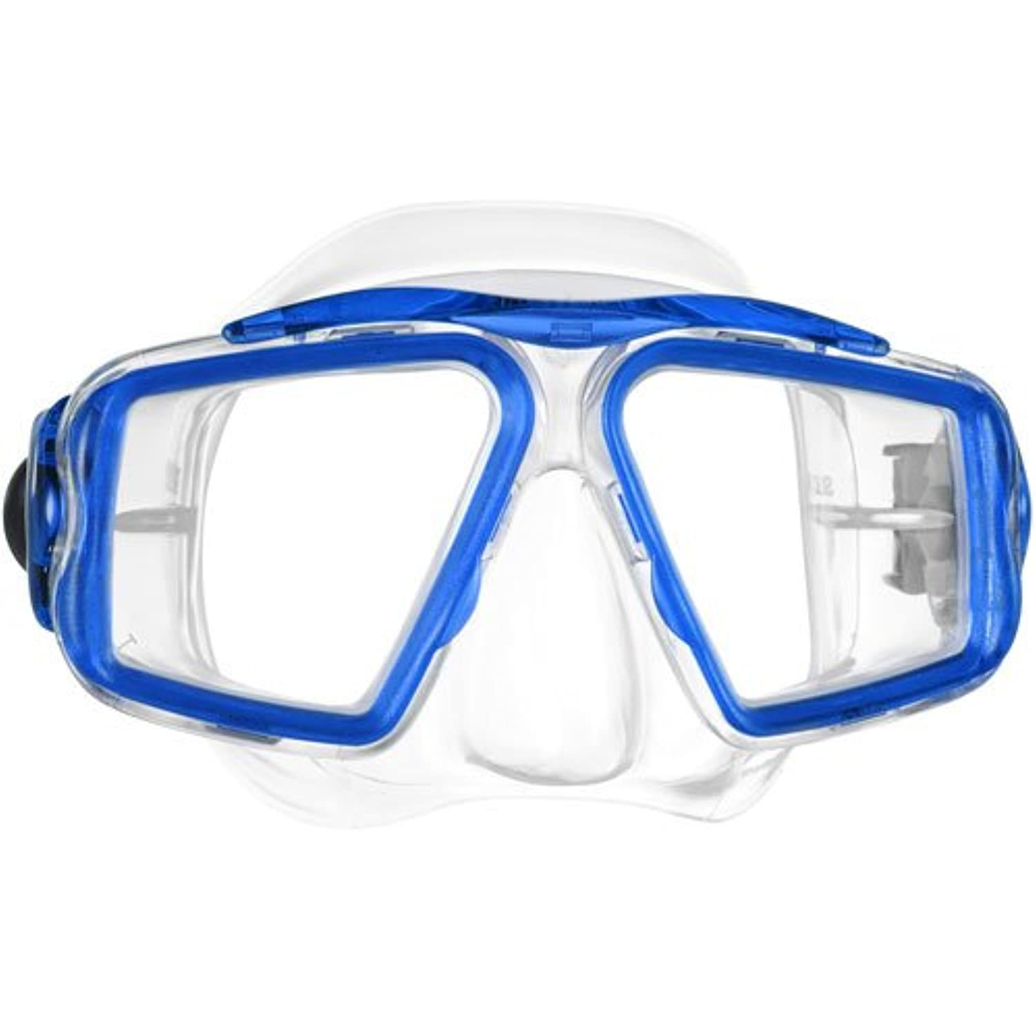 Mares Opera Mid Size Dual Lens Silicone Mask with Yellow Frame