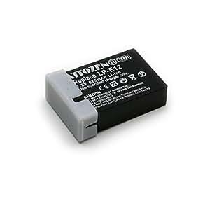 キヤノン LP-E12 互換バッテリー EOS M, Kiss X7対応 残量表示&純正充電器対応グレードAパーツ使用