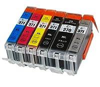 BCI-371 BK/C/M/Y/GY BCI-370XLBK 6色マルチパック 大容量交換インク Canonインクカートリッジ 最新ICチップ 残量表示機能付