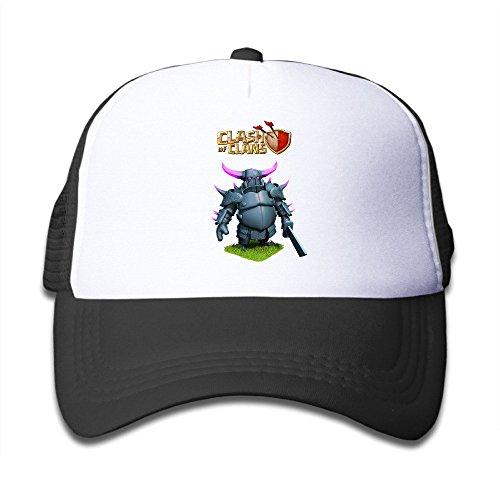 KY 女の子 児童 ファッション 帽子 大人気 グリッド帽 男女兼用 ソフト 日焼け止め 紫外線防止 釣り クラッシュ・オブ・クラン盾 怪獣プリント ブラック