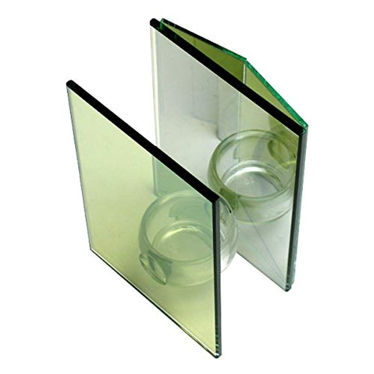 流体家具理論的無限連鎖キャンドルホルダー ダブルミラー ガラス キャンドルスタンド ランタン 誕生日 ティーライトキャンドル
