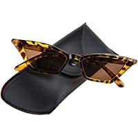 Buauty Vintage Small Cat Eye Tinted Sunglasses for Women With UV Protection