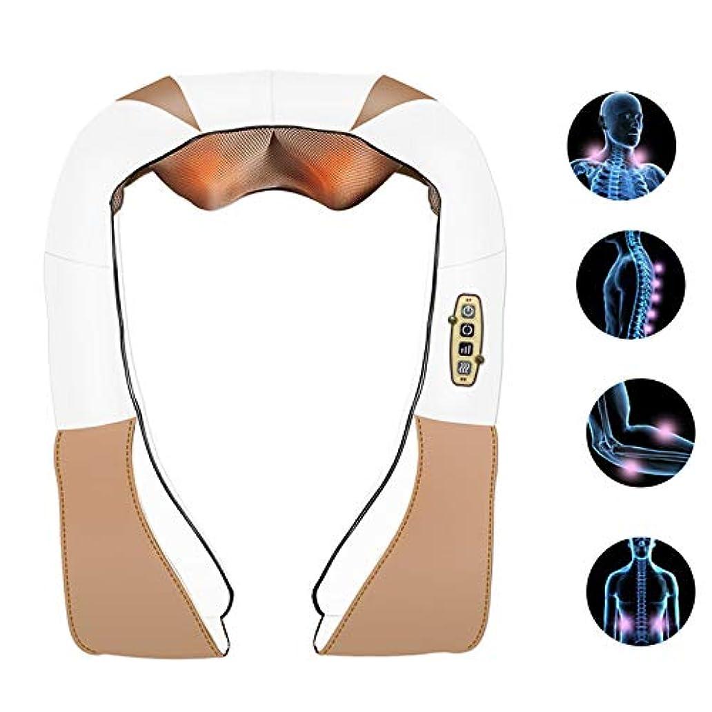 深いShiみのティッシュ4Dのステレオのマッサージの二重指の背部および首のマッサージャーの二重低雑音の設計は筋肉苦痛を取り除きます