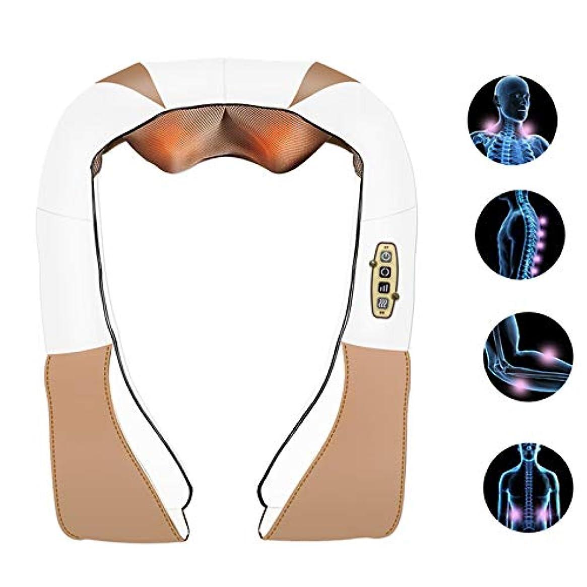 識別観察リラックス深いShiみのティッシュ4Dのステレオのマッサージの二重指の背部および首のマッサージャーの二重低雑音の設計は筋肉苦痛を取り除きます