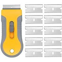 ARTGEAR 業務用ガラス掃除プロ用ツール ポケットスクレーパー 替刃付不銹鋼 10 個,クレーパー  ステッカーやガスケット、のり剥がしに