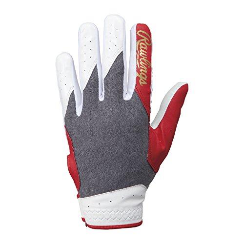 Rawlings(ローリングス) 守備用手袋 (ナノフロント) EBG7S04 グレー/レッド LH M