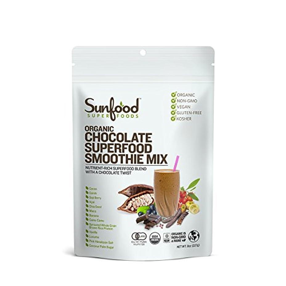 判定ブローホール圧縮されたオーガニック チョコレート スーパーフードスムージーミックス 227g【有機JAS認証付】 国内正規品