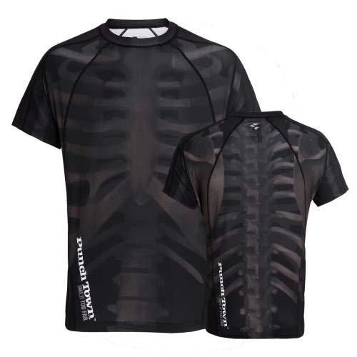 PunchTown[パンチタウン] Fracture<フラクチャー> ラッシュガード 半袖 / Rush Guard Short Sleeve (XL)