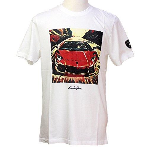 (ランボルギーニ) Lamborghini メンズ アヴェンタドール プリント Tシャツ WH (L)