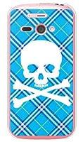 SECOND SKIN スカルパンク ブルー (ソフトTPUクリア) / for AQUOS PHONE ef WX05SH/WILLCOM WSH5SH-TPCL-701-J096
