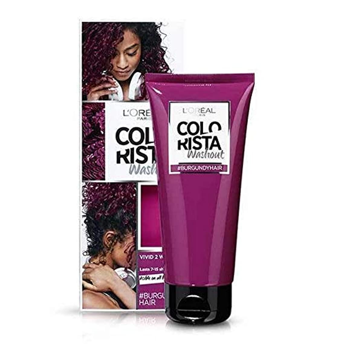 スイ代数的順応性[Colorista] Colorista洗い出しバーガンディ半永久染毛剤 - Colorista Washout Burgundy Semi-Permanent Hair Dye [並行輸入品]