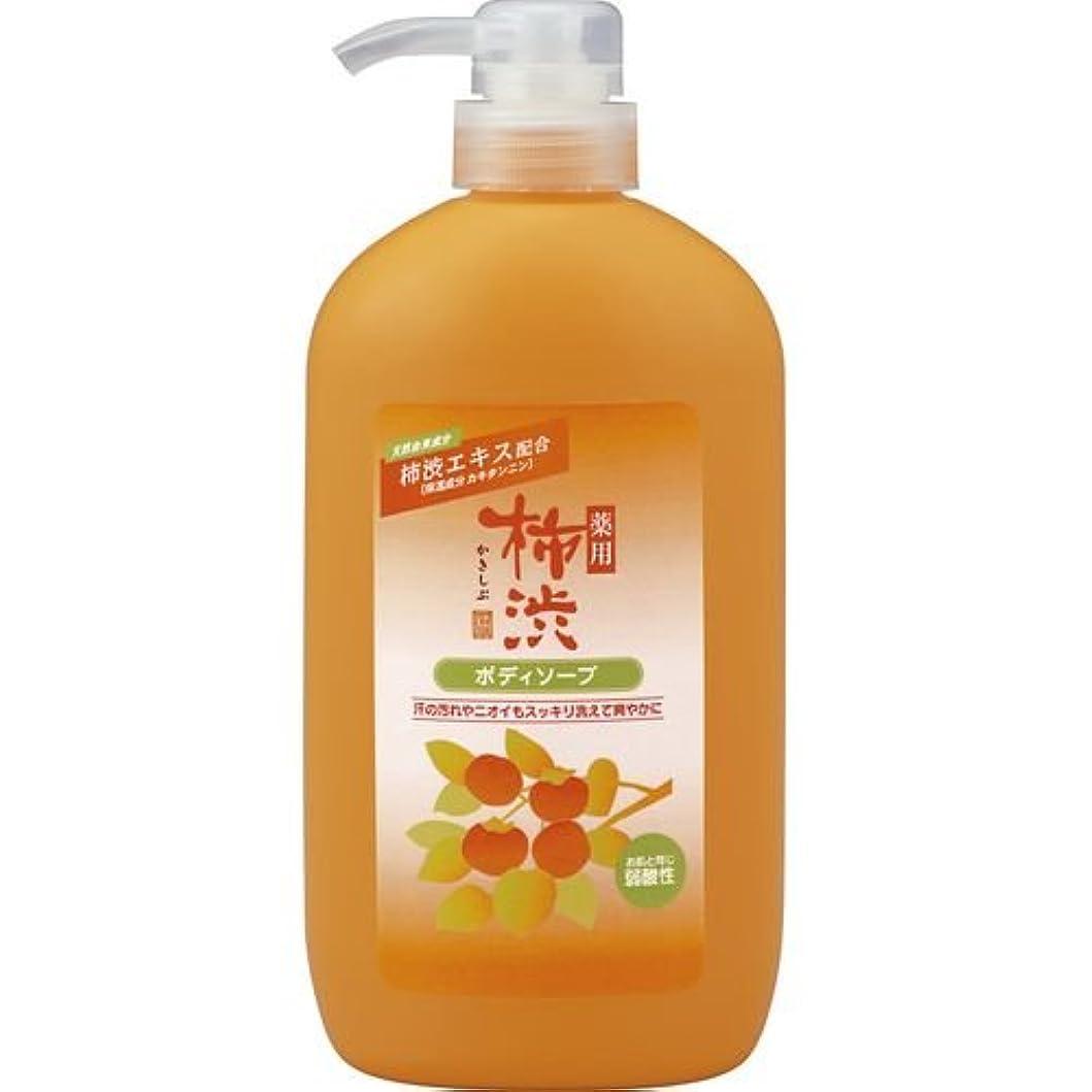 いたずらリーズ統治可能薬用柿渋ボディソープ ボトル600ml