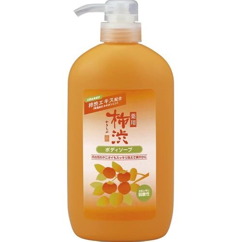 ほとんどの場合暗くする公然と薬用柿渋ボディソープ ボトル600ml