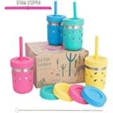 Elk and Friends Kids Cups/Toddler Cups with Straws - Stainless 8oz Stainles Steel Mason Jars