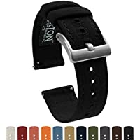 Barton Canvas Quick Release Watch Band Straps - Choose Color & Width - 18mm, 20mm, 22mm