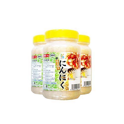 九州ファーム みじん切りにんにく(有塩)1kg ×3個
