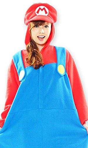 スーパーマリオブラザーズ マリオ 着ぐるみ コスチューム 男女共用 フリーサイズ