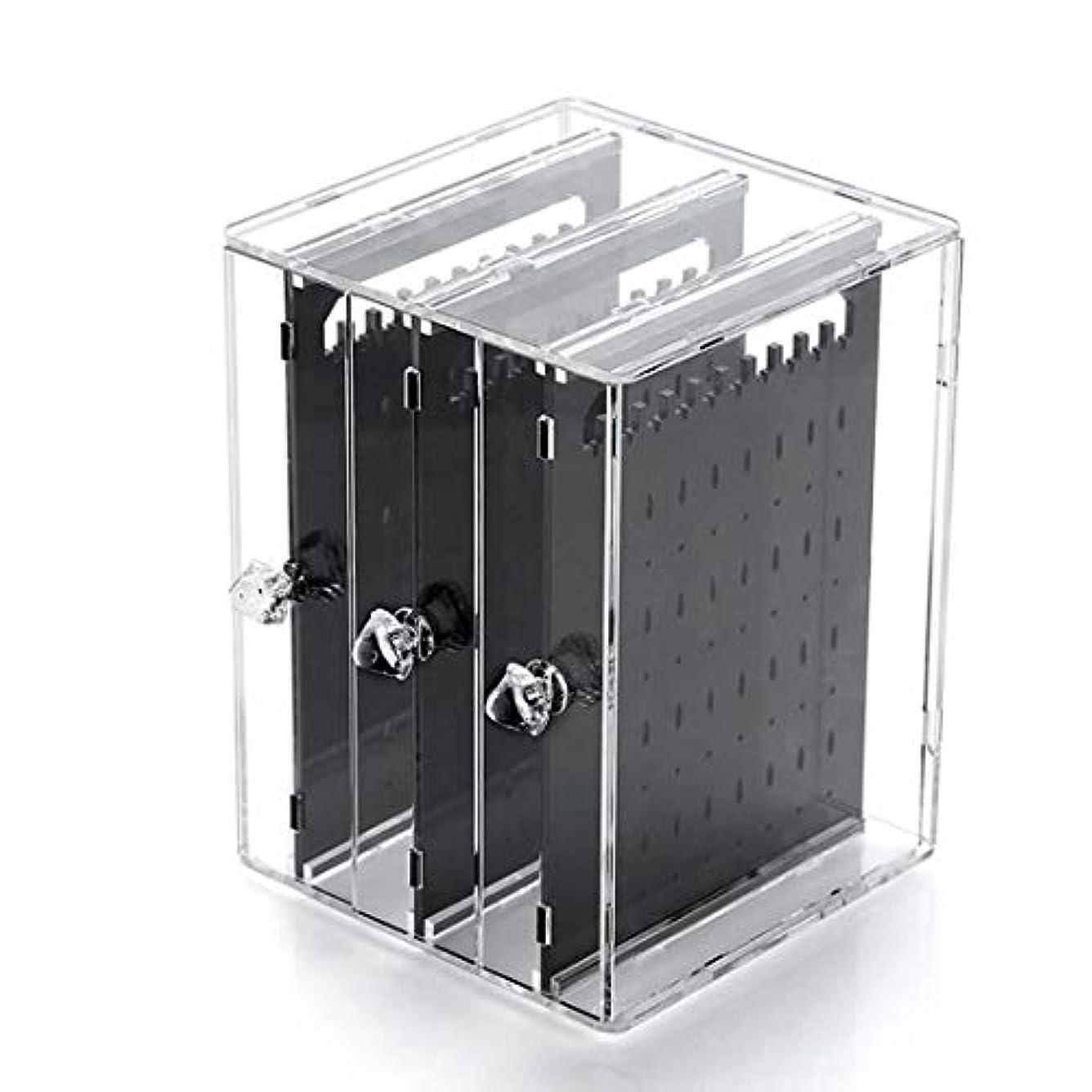 ルーフ電子一方、Ryohan ピアス&イアリングスタンド ジュエリー収納 アクリル樹脂 引き出し式ピアス収納スタンド アクセサリー収納 (透明)