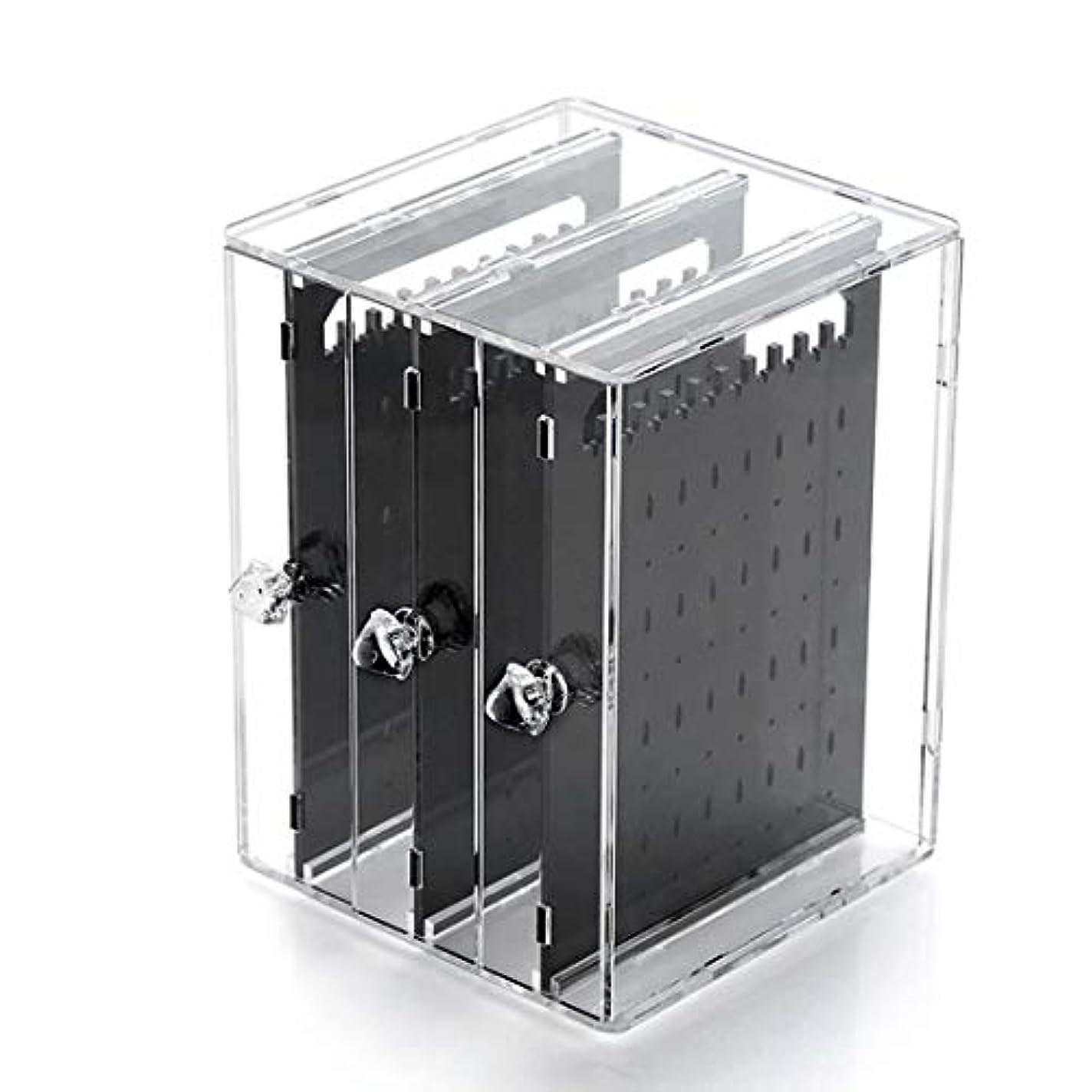 ガロンボウリング単位Ryohan ピアス&イアリングスタンド ジュエリー収納 アクリル樹脂 引き出し式ピアス収納スタンド アクセサリー収納 (透明)