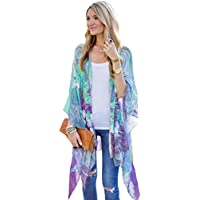 Gillberry Women's Jacket Women's Casual Print Kimono Cover Up Blouse