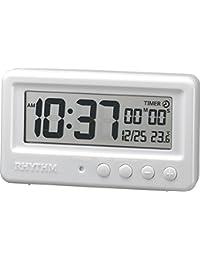 リズム時計 RHYTHM 置き時計 アクアプルーフ 防水 ・ タイマー付き ホワイト 8RDA72SR03