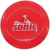 Linzo Flying Disc Pet Dog Outdoor Training Toys Frisbee for Small, Medium and Large Dogs (Red)