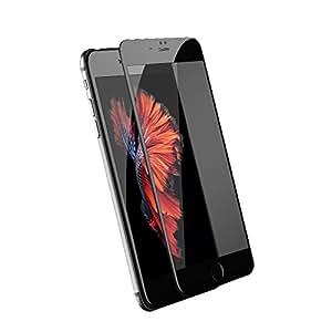 新品発売 3D炭素繊維 強化ガラスフィルムfor iPhone7/for iPhone7plus 全面に貼れる 曲面 湾曲9H硬度0.2mm極薄 指紋防止 飛散防止 保護フィルム 耐衝撃 for iPhone7 ブラック