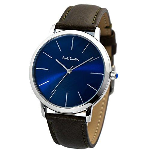 PAUL SMITH ポールスミス MA エムエー レザーベルト 腕時計 ネイビー×シルバー/ブラウン P10091