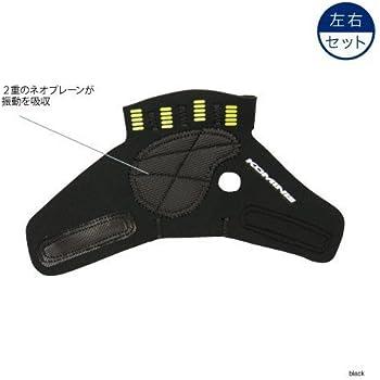 コミネ KOMINE バイク グローブパームカバー アンチバイブレーションパームカバー (左右セット) ブラック L 09-069 AK-069