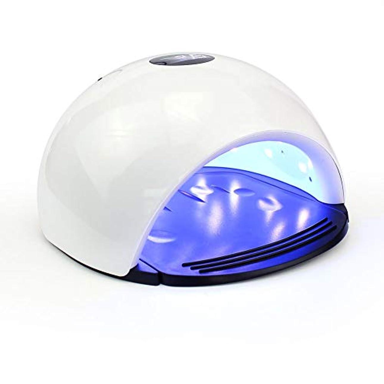 アート補正明快ジェルネイル用UVネイルライト  4速タイマーセットドライヤー光硬化ランプセンサーLED UVジェルネイルポリッシュ用LCD