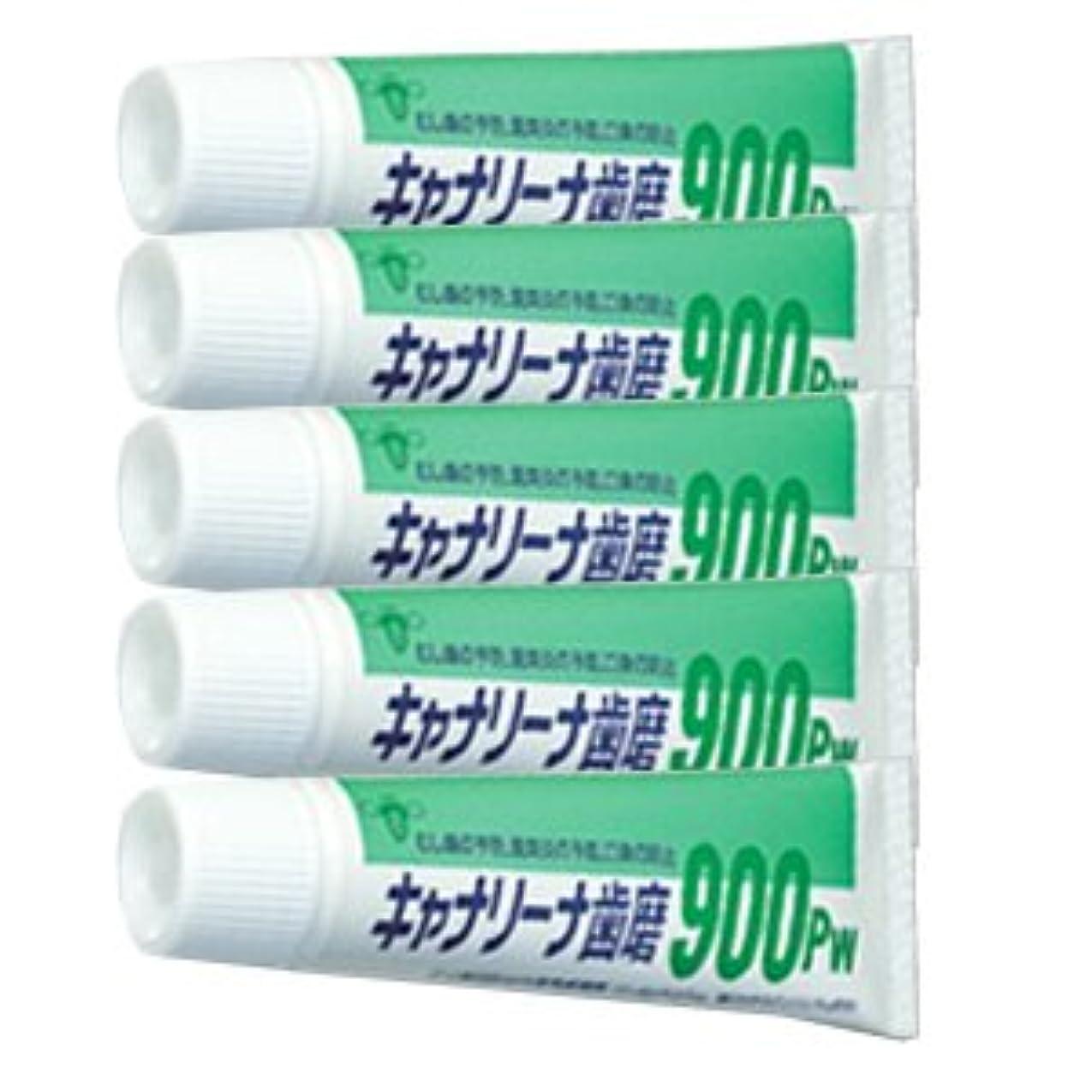 疼痛鼻パンフレットビーブランド キャナリーナ 歯磨 900Pw × 5本セット 医薬部外品
