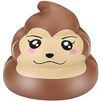応力Relieverおもちゃ、balakie精巧なFun Monkey Poo香りつきSquishyチャームSlow Rising Toys Poo ブラウン BK-1GY0617