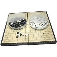 囲碁 囲碁盤 セット 折りたたみ式 ポータブル マグネット石 (中28.5×28.5cm)
