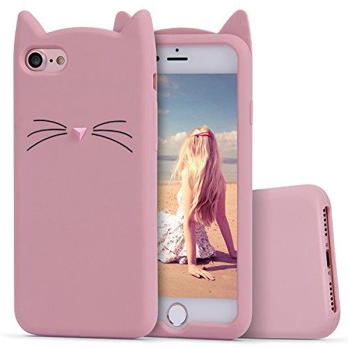 Imikoko iPhone 7 ケース iPhone 8 ケース アイフォン7/8 携帯カバー スマホ 猫 シリコン ねこ ソフト 衝撃