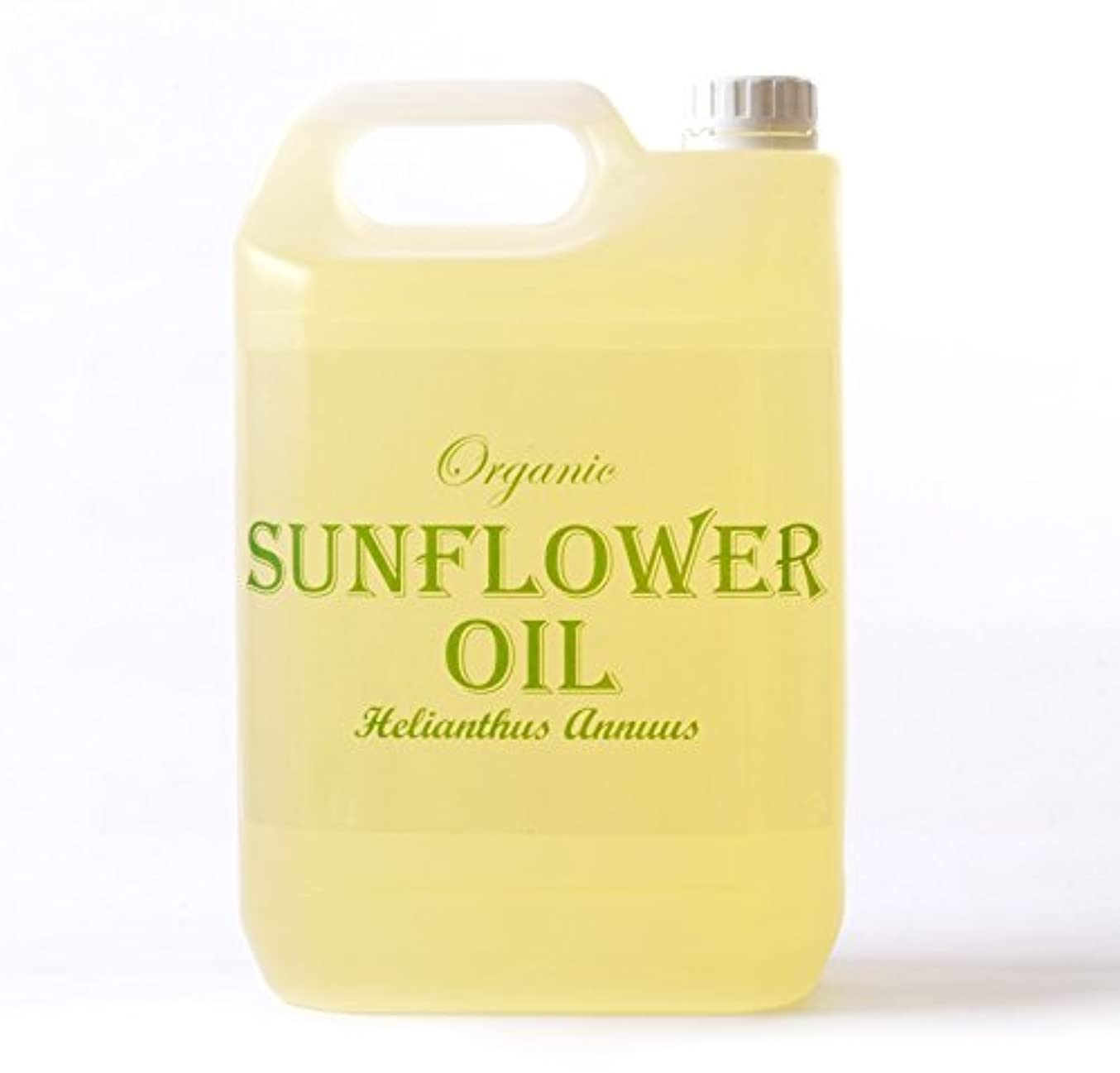 キー束農夫Mystic Moments | Sunflower Organic Carrier Oil - 5 Litres - 100% Pure