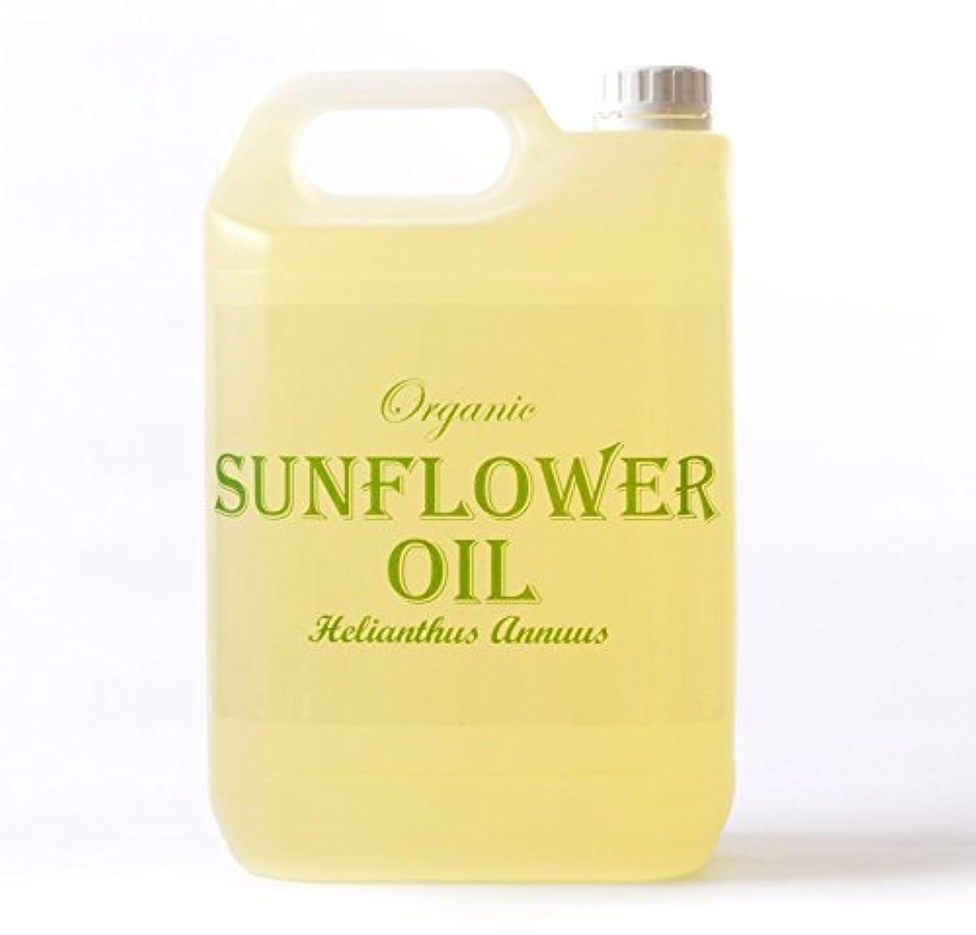 地元実験的百年Mystic Moments | Sunflower Organic Carrier Oil - 5 Litres - 100% Pure