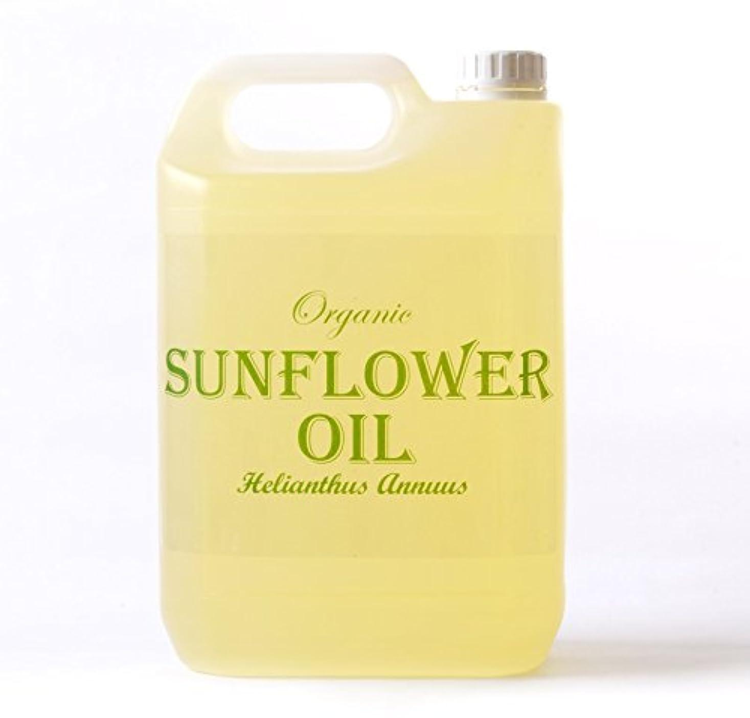 ママ発行する明るくするMystic Moments   Sunflower Organic Carrier Oil - 5 Litres - 100% Pure