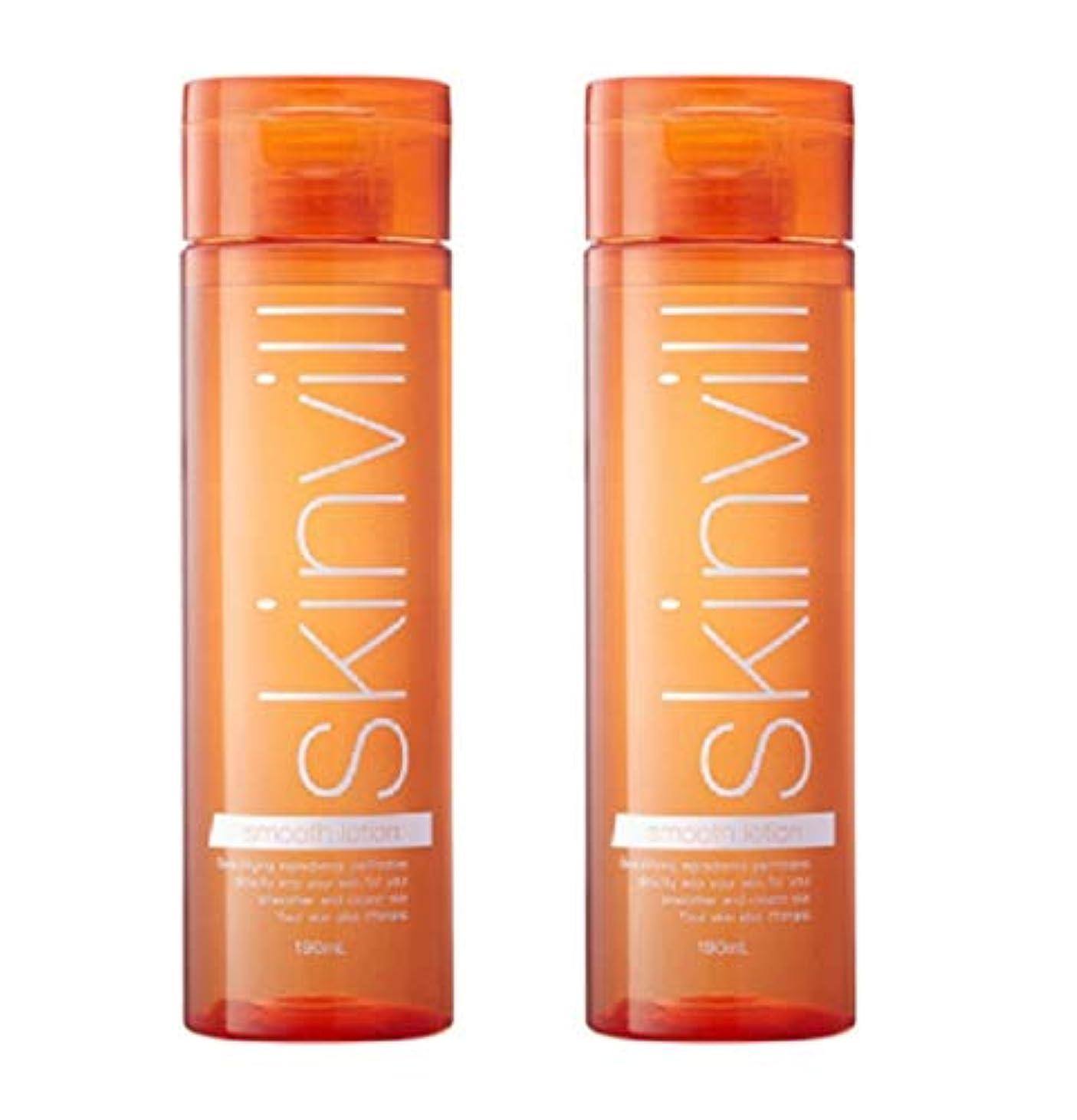 補正頭痛追放skinvill スキンビル スムースローション 化粧水 190ml 2本セット