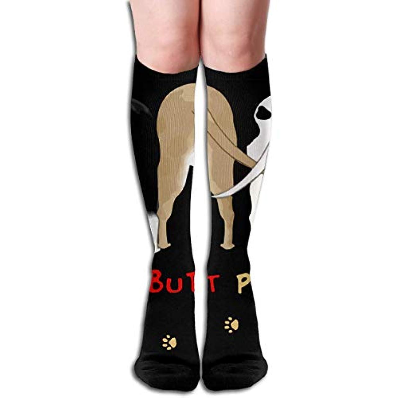 ツーリスト最初に上級qrriy女性のnothin '尻ピットブルズソフトクリスマス膝ハイスストッキングスリッパソックス、クリスマス楽しいカラフルな靴下