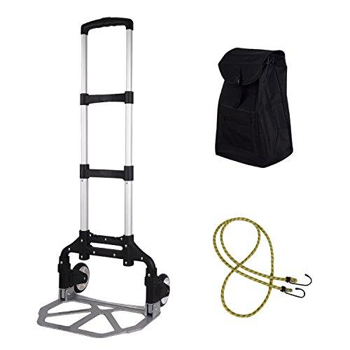 【リラカート】RELCART 折りたたみ式キャリーカート アウトドア 引っ越し 軽量 耐久性 荷物固定用ロープ付き 耐荷重50kg ブラック