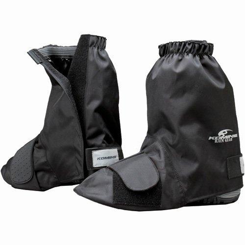 コミネ KOMINE バイク ネオレインブーツカバー (ショート) 防水 雨具 ブラック L 09-034 RK-034