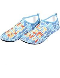 [HR株式会社] マリンシューズ  水陸 軽量  通気  ウォーターシューズ ビーチシューズ  可愛い アクアシューズ 携帯便利  レディース メンズ シュノーケリング  海水浴靴 収納便利 男女兼用 ブルー7 XL