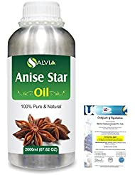 Anise Star (Illicium Verum) 100% Natural Pure Essential Oil 2000ml/67 fl.oz.