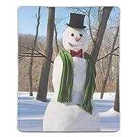 マウスパッド 光学式マウス対応 防水 滑り止め生地 軽量 耐久性 携帯便利 クリスマス冬雪だるまスカーフ木雪 ノートパソコン用 オフィス用