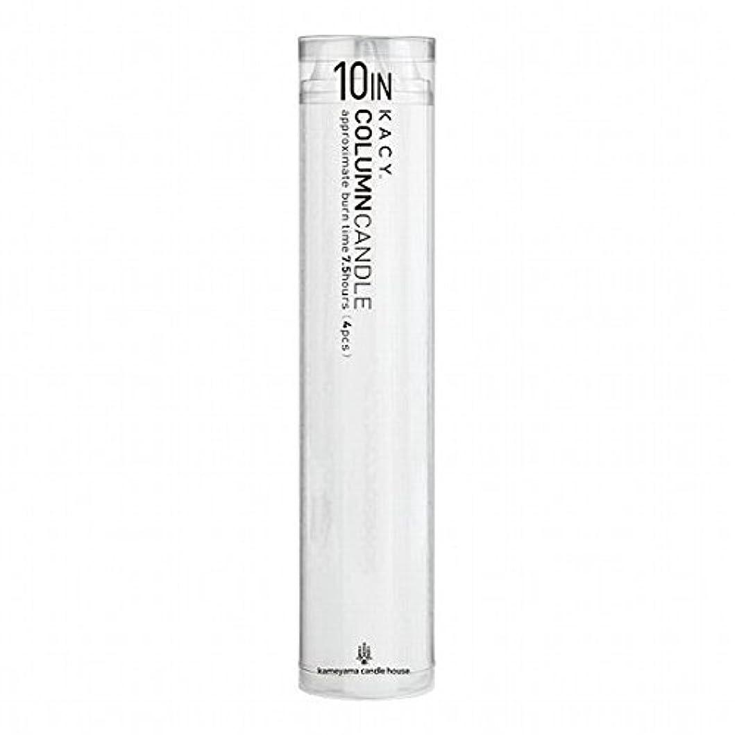媒染剤慢性的典型的なkameyama candle(カメヤマキャンドル) 10インチコラムキャンドル4本入り 「 ホワイト 」(A9123100W)