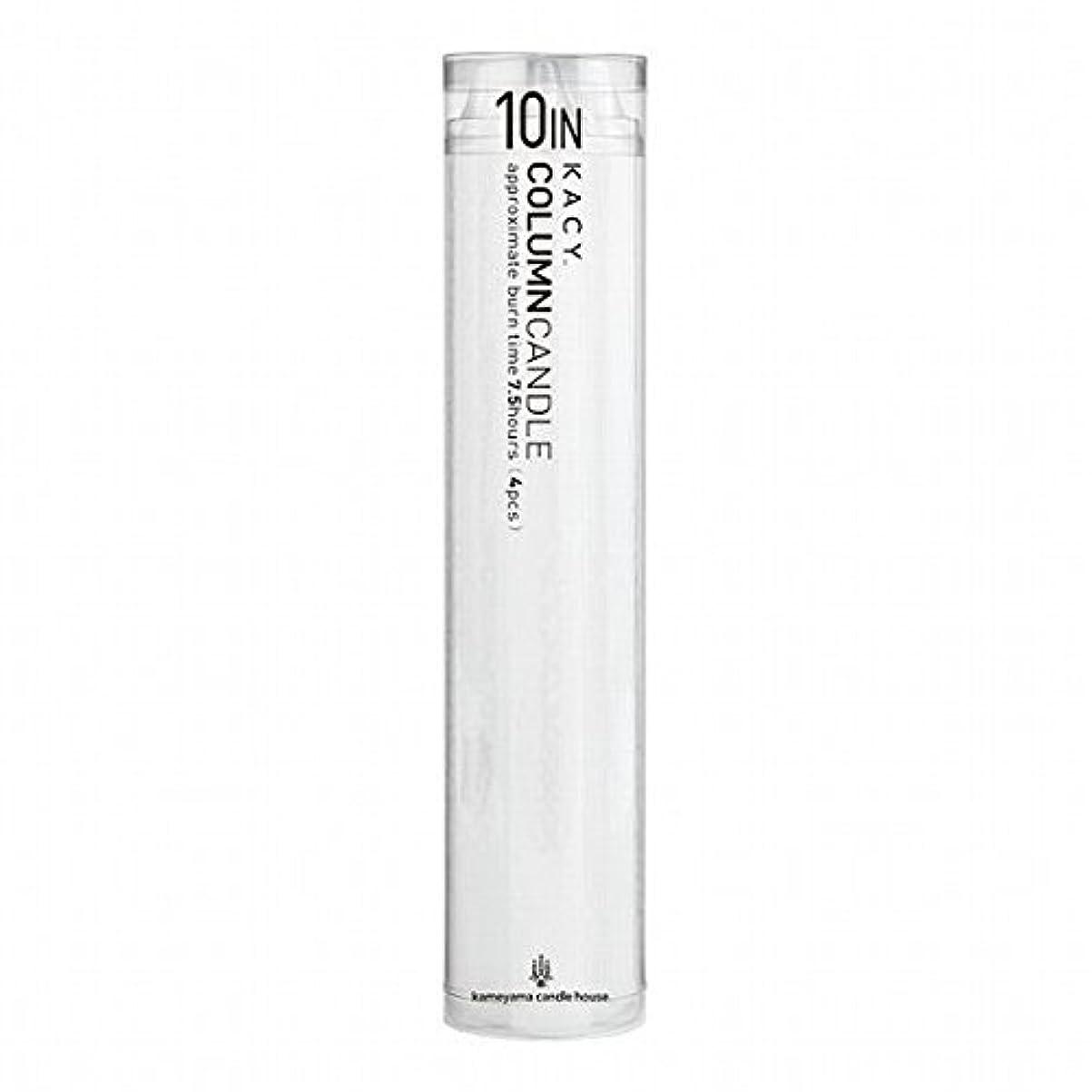 まだら貫通テニスkameyama candle(カメヤマキャンドル) 10インチコラムキャンドル4本入り 「 ホワイト 」(A9123100W)