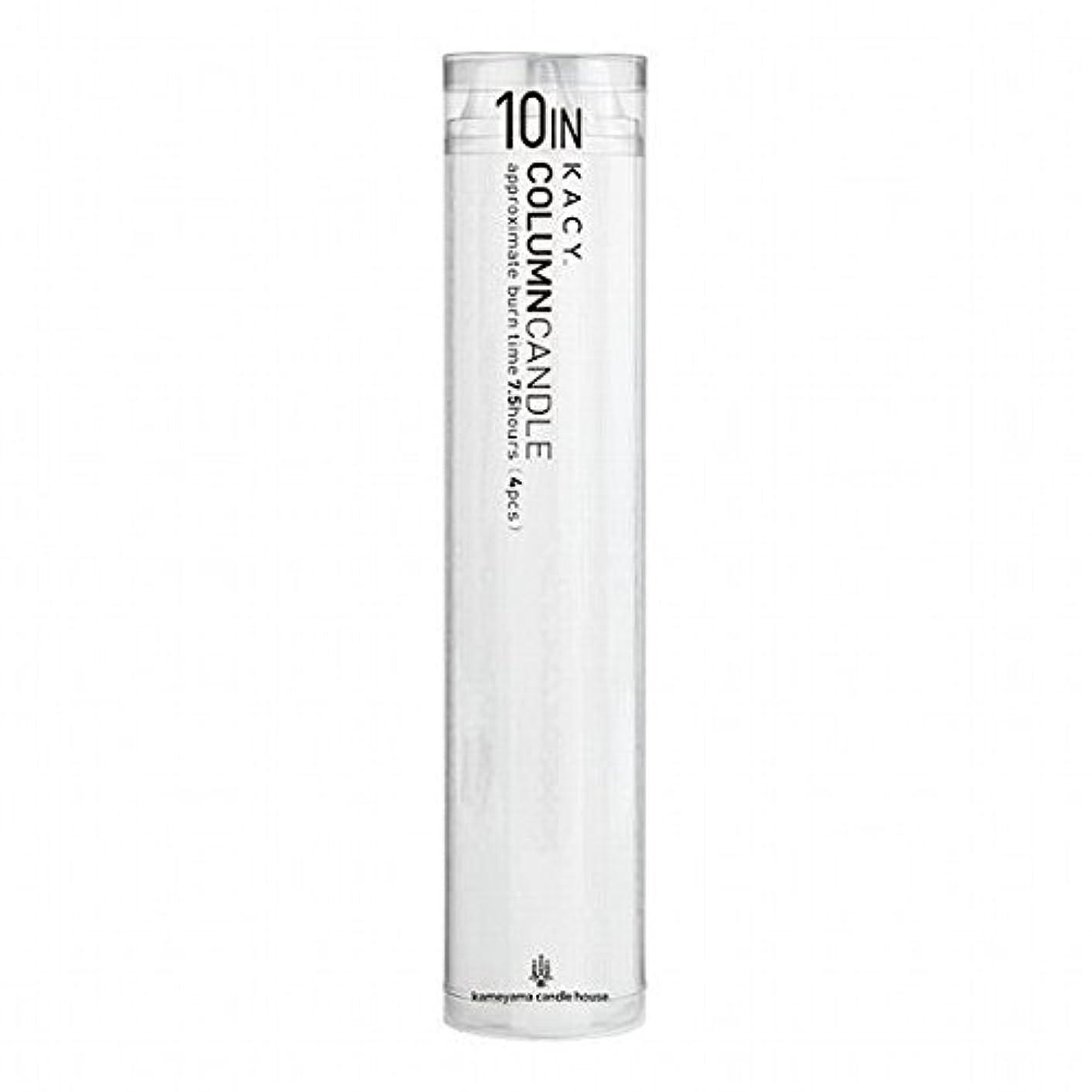 実現可能歯科医モードリンkameyama candle(カメヤマキャンドル) 10インチコラムキャンドル4本入り 「 ホワイト 」(A9123100W)
